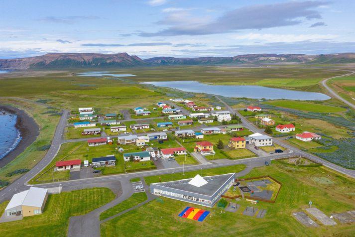 Frá Kópaskeri en flestir skjálftarnir hafa mælst vestnorðvestur af bænum.