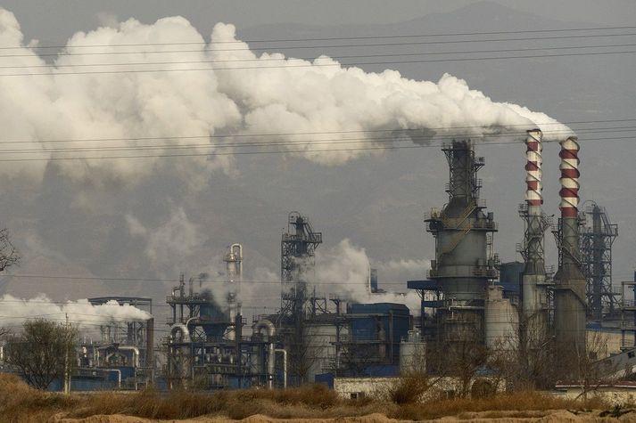 Stór hluti orku í Kína er framleiddur með því að brenna kol.