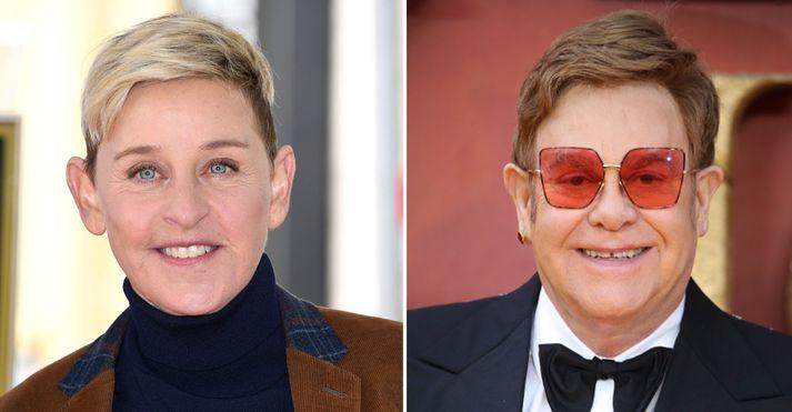 Ellen DeGeneres og Elton John eru ósátt við umfjöllun um ferðalög hertogahjónanna.