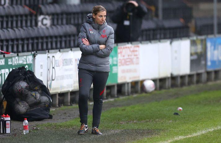 Vicky Jepson hefur verið rekin sem þjálfari kvennaliðs Liverpool.