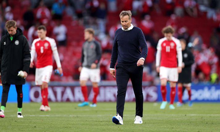 Kasper Hjulmand, þjálfari Dana, að loknu 1-0 tapi liðsins gegn Finnlandi í dag.
