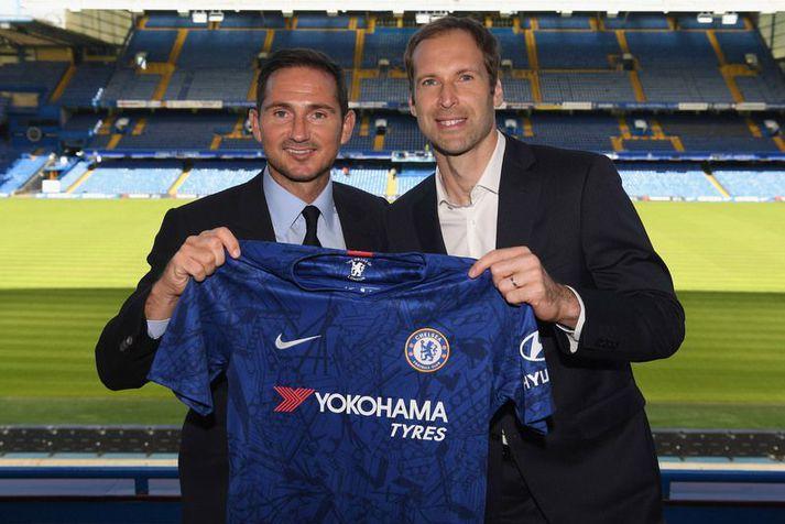Frank Lampard og Petr Cech unnu marga titla saman hjá Chelsea og nú vill Lampard hafa tékkneska markvörðinn á bakvakt.