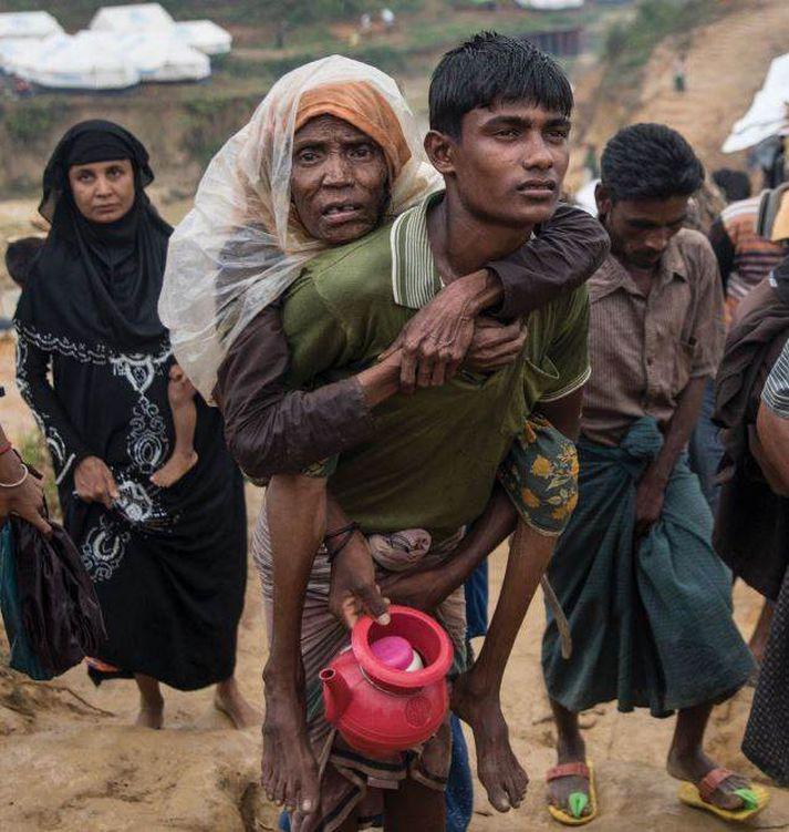 Ljósmynd frá Cox Bazar í Bangladess