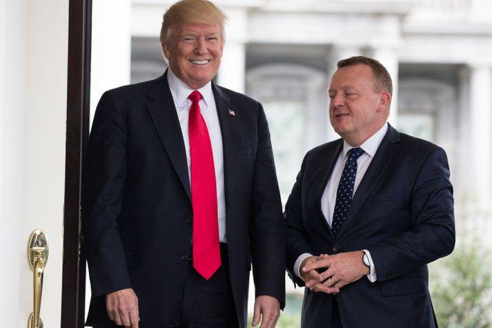 Donald Trump ræðir við Lars Løkke Rasmussen, þáverandi forsætisráðherra Danmerkur, árið 2017.