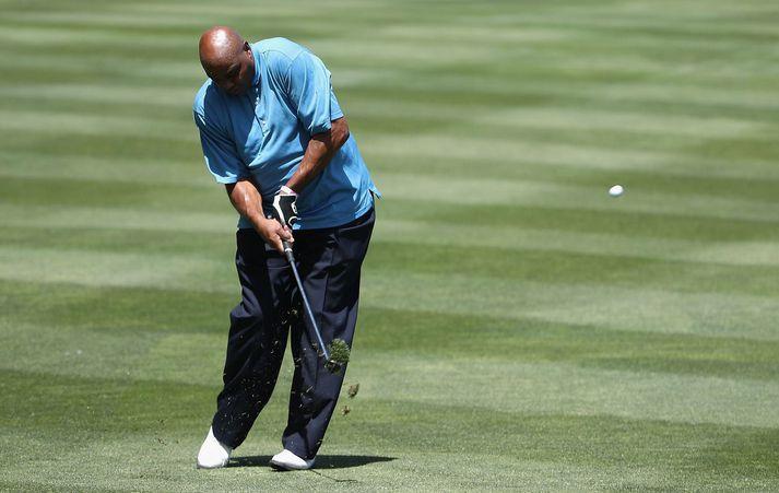 Charles Barkley er ekki þekktur fyrir fallega sveiflu á golfvellinum.