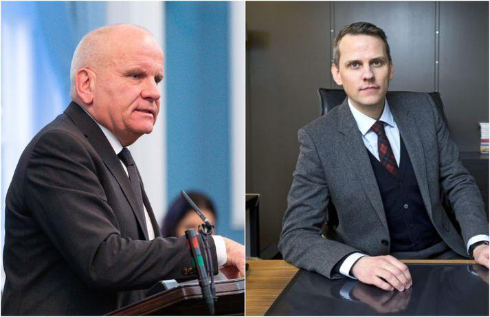 Páll Magnússon og Magnús Geir Þórðarson.
