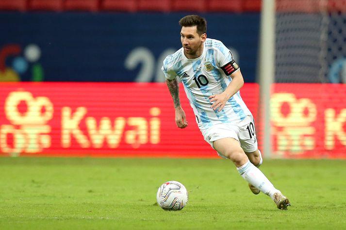 Lionel Messi jafnaði leikjamet argentínska landsliðsins í nótt og bætir það í næsta leik.