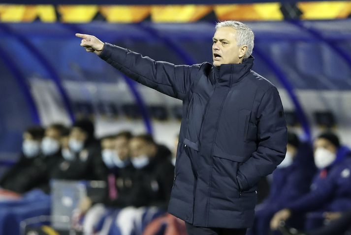 José Mourinho hefur verið látinn fara frá Tottenham.