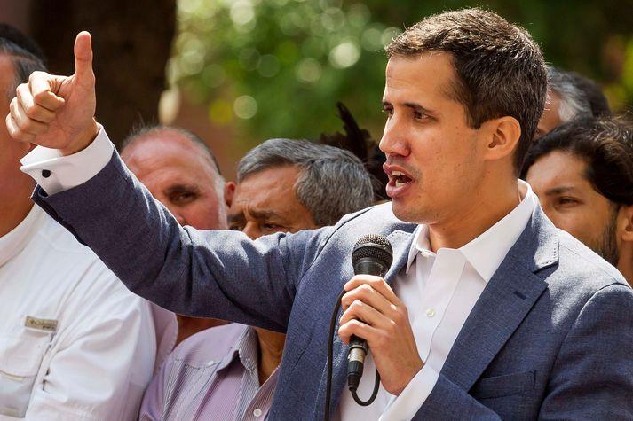 Guiado er forseti þjóðþingsins sem Maduro hefur að mestu gert valdalaust.