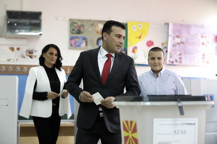 Zoran Zaev er forsætisráðherra Makedóníu.