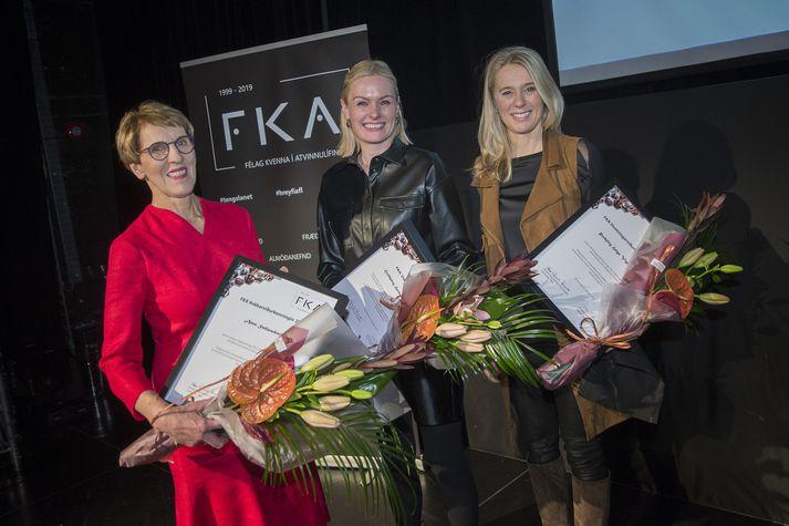 Guðbjörg Heiða Guðmundsdóttir, Anna Stefánsdóttir og Þorbjörg Helga Vigfúsdóttir.