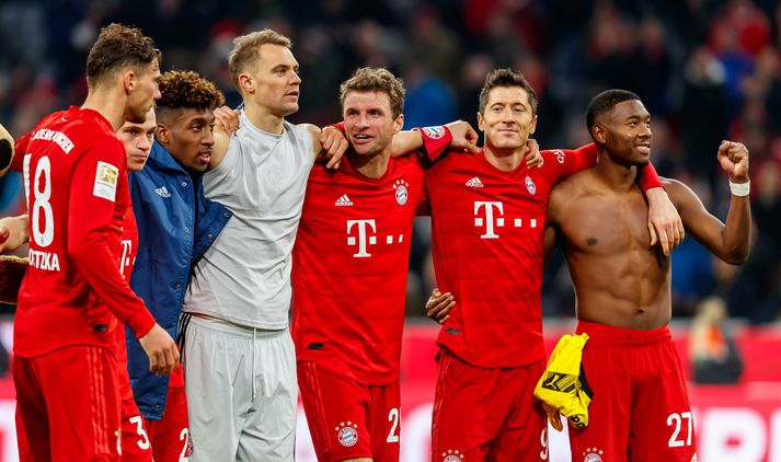Þýskalandsmeistarar Bayern fá að spila fyrir framan áhorfendur um helgina.