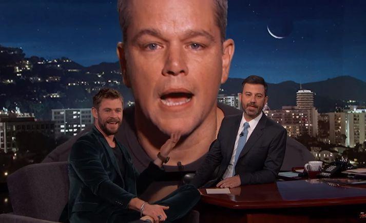 Hemsworth sagði frá því að hann og Damon væru vinir en eingöngu vegna þess að hann vorkenndi honum.