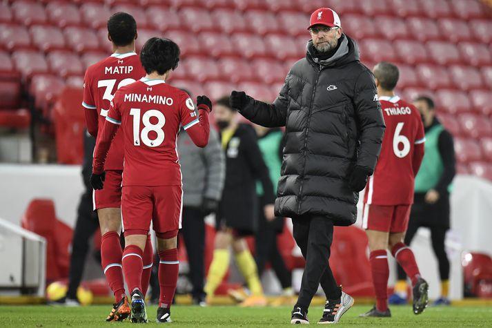Klopp var ekki beint sáttur í leikslok er Liverpool tapaði 0-1 gegn Burnley í vikunni.