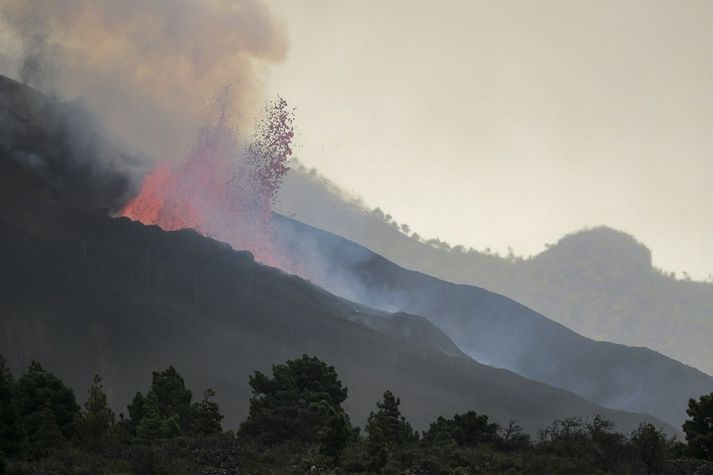 Eldgosið á La Palma hefur verið tiltölulega hvikult síðustu daga.