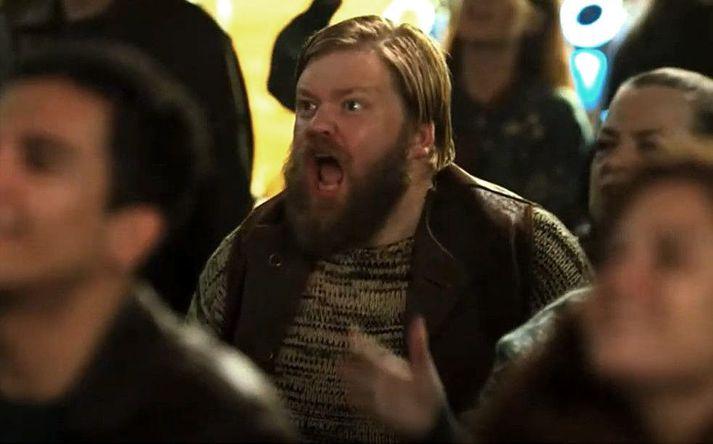 Hannes Óli í hlutverki Olafs, hins reiða og æsta Íslendings , í nýjustu mynd Will Ferrel.