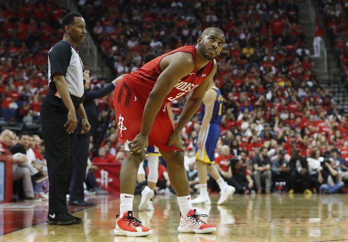 Chris Paul lék með Houston Rockets á síðasta tímabili og var með 15,6 stig og 8,2 stoðsendingar að meðaltali í leik. Hann fékk 4,5 milljarða íslenskra króna en fær mun meira fyrir næstu tímabil.