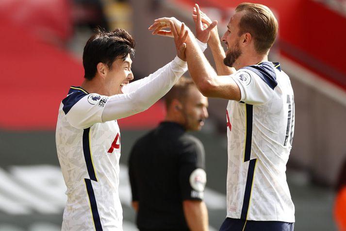Heung-Min Son og Harry Kane hafa fagnað mörgum mörkum saman á þessu tímabili en Tottenham er markahæsta liðið í deildinni.