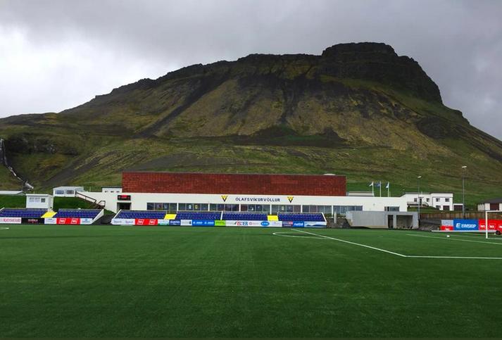 Gervigrasið kemur vel út í Ólafsvík.