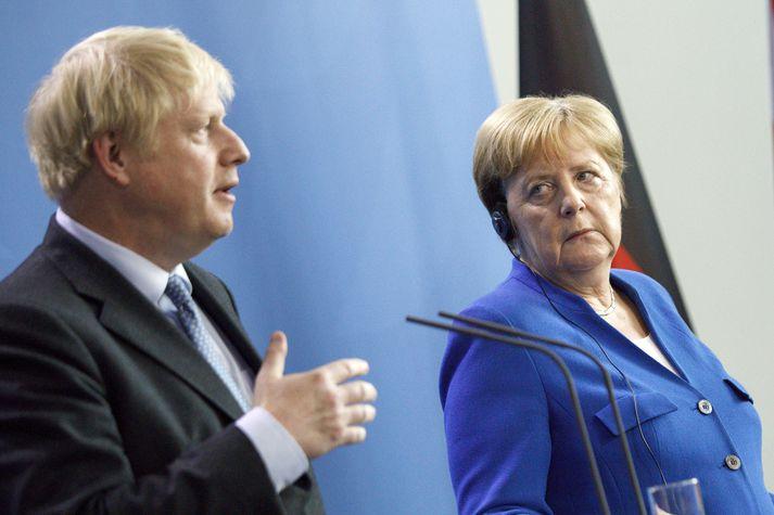 Johnson og Merkel.