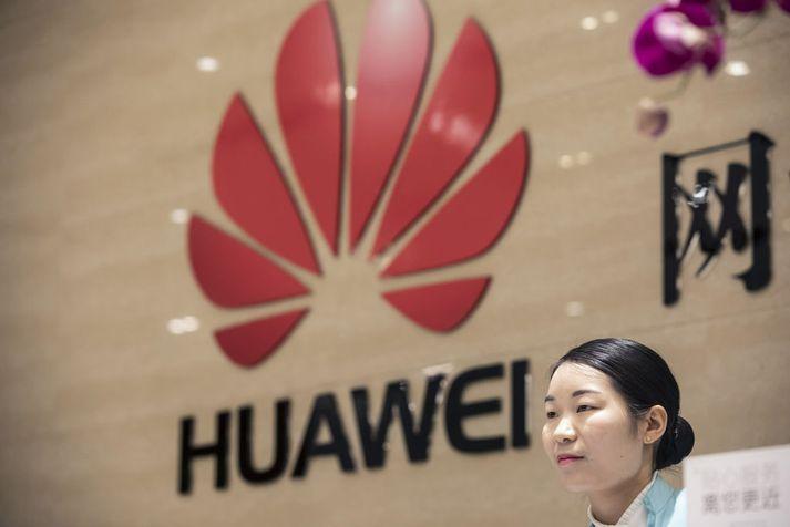 Anddyri höfuðstöðva Huawei.