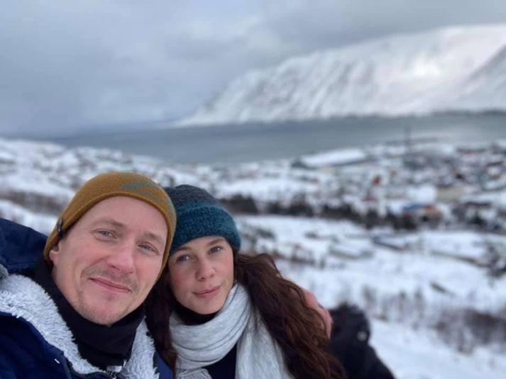 Jörundar og Magdalena á Siglufirði fyrr í þessum mánuði.