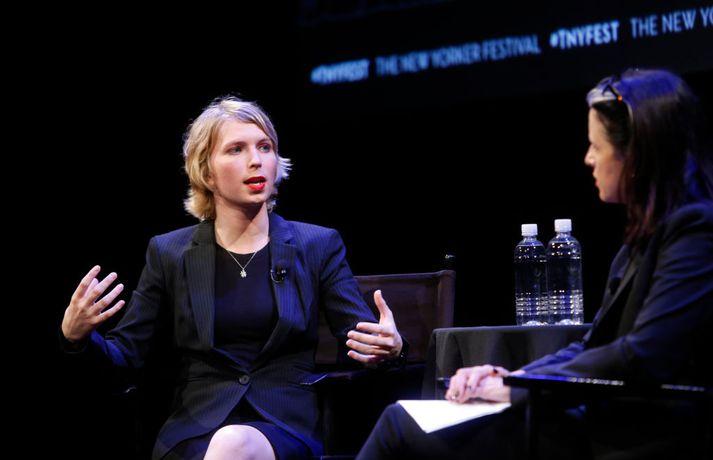 Chelsea Manning hefur látið til sín taka eftir að hún losnaði úr fangelsi.