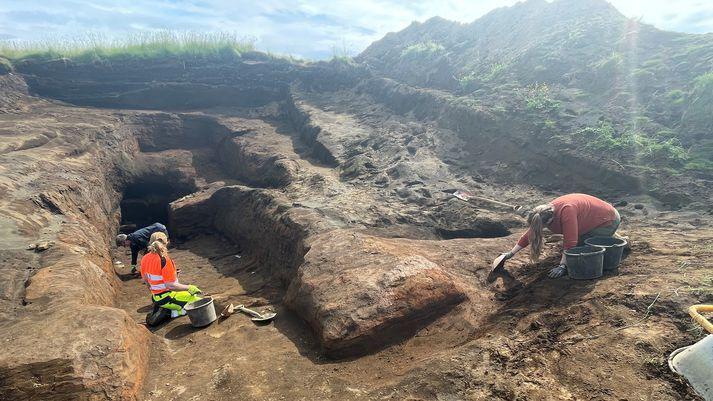 W odkrytych jaskiniach prowadzone są wykopaliska, które wskazują, że pochodzą one z czasów Wikingów.