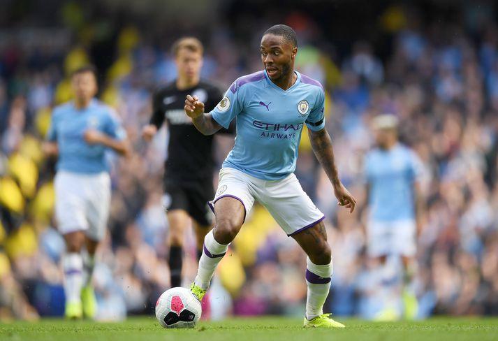 Sterling hefur tvisvar sinnum orðið Englandsmeistari með Manchester City.