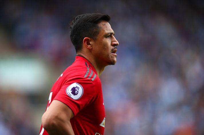 Sanchez í leik með Manchester United á síðustu leiktíð.