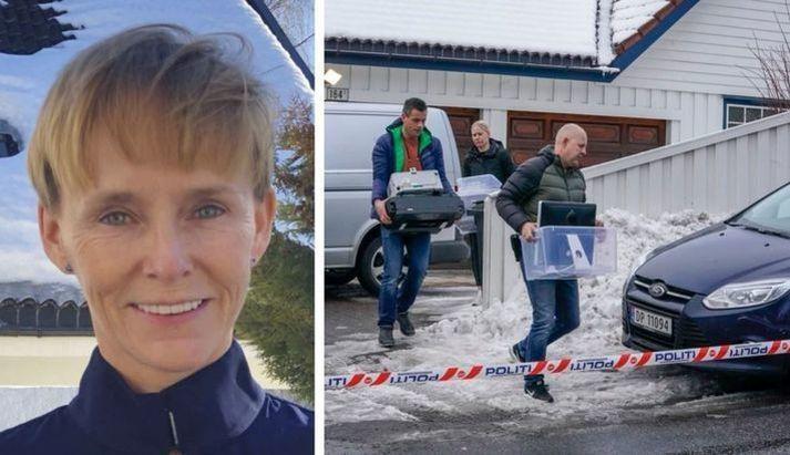 Húsleit var gerð á heimili Laila Bertheussen og dómsmálaráðherrans Tor Mikkel Wara á vordögum 2019.