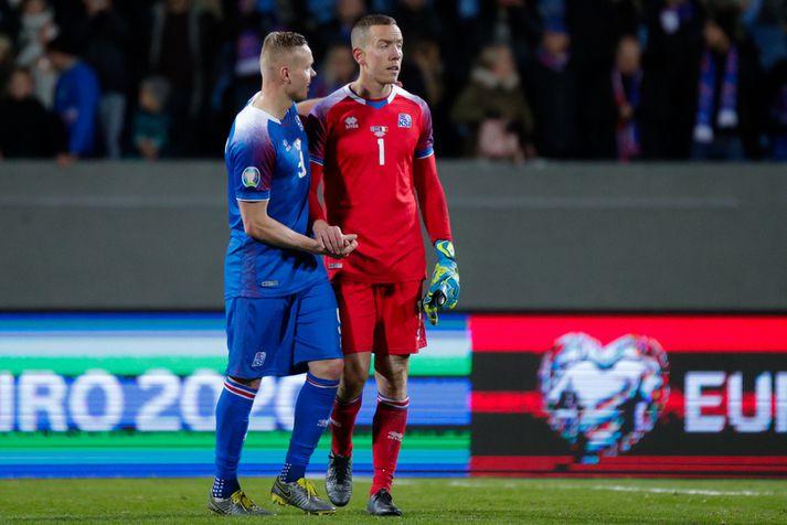 Hannes Þór Halldórsson og Kolbeinn Sigþórsson.