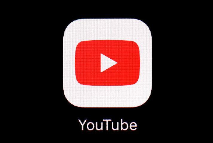 Merki Youtube á spjaldtölvuskjá. Fyrirtækið er í eigu tæknirisans Google.