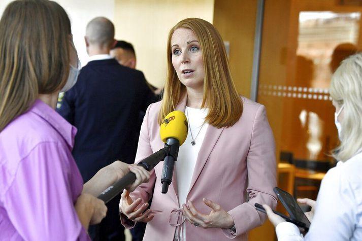 Annie Lööf er formaður sænska Miðflokksins.