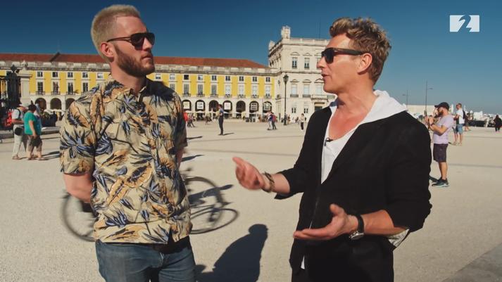 Fannar og Magnús hittust í Lissabon.