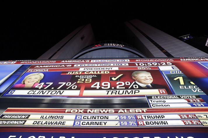 Ef marka má frásögn New Yorker drápu stjórnendur Fox News frétt sem hefði komið Trump illa í kosningabaráttunni árið 2016.