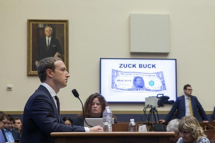 Mark Zuckeberberg, stofnandi Facebook, þegar hann svaraði spurningum bandarískra þingmanna um rafmyntina Libra í október í fyrra.