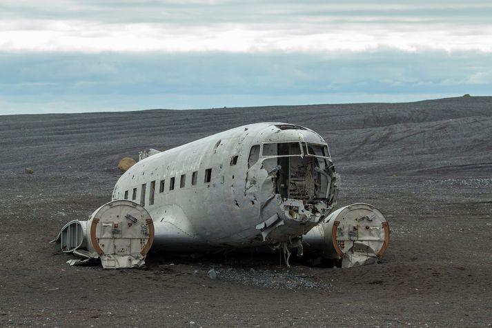 Flugvélarflakið á Sólheimasandi.