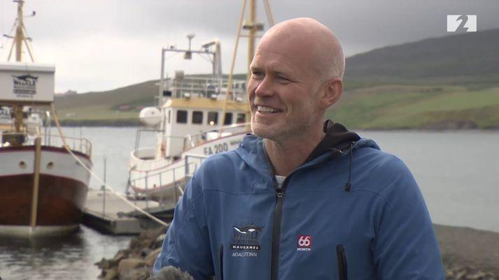 Aðalsteinn Svan Hjelm, markaðsstjóri Hvalaskoðunar á Hauganesi.