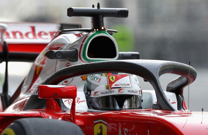 Sebastian Vettel reyndi geislabaugs-vörnina á eigin skinni í fyrra.