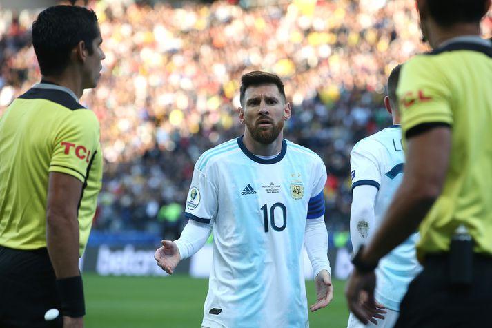 Messi lét gamminn geysa eftir leik.