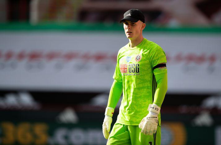 Henderson í leik gegn Chelsea í gær.
