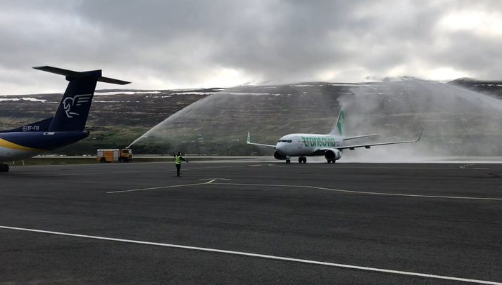 Hollenska ferðaskrifstofan Voigt bauð meðal annars upp á flug milli Akureyrar og Rotterdam með hollenska flugfélaginu Transavia síðastliðið sumar.