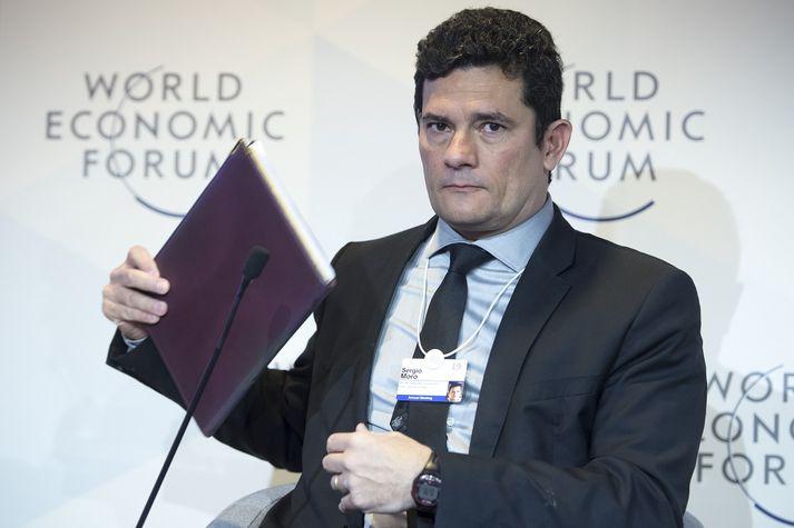 Sergio Moro dæmdi Lula fyrrverandi forseta í fangelsi árið 2017. Fyrr á þessu ári tók hann við embætti dómsmálaráðherra.