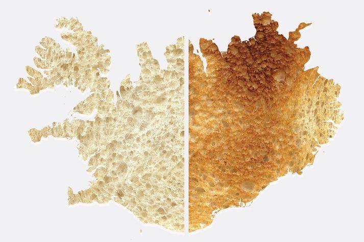 54% svarenda kusu ljósgyllt ristað brauð og 31% svarenda völdu dökkgyltan blæ. Enginn vildi brauðið brennt.