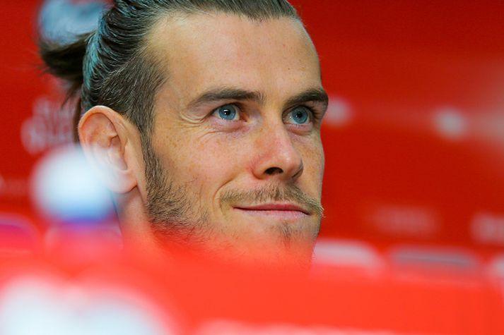 Gareth Bale á blaðamannafundi á dögunum.