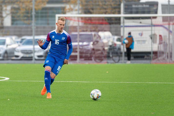 Hörður Ingi í leik með íslenska U21 landsliðinu.
