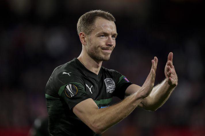 Jón Guðni fékk fleiri tækifæri hjá Krasnodar eftir því sem leið á tímabilið.
