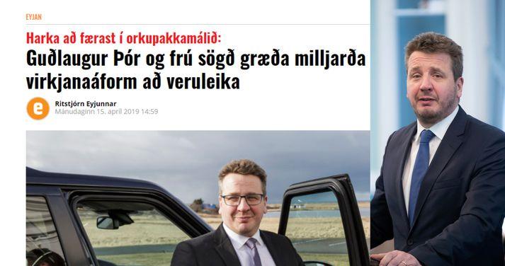 Guðlaugur Þór Þórðarson, utanríkisráðherra, hefur svarað fréttaflutningi Eyjunnar.
