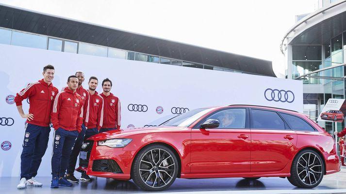 Margir leikmenn Bayern Munchen völdu sér Audi RS6 Avant kraftaköggulinn.